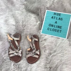 Cole Haan Snake Print Sandals Size 5